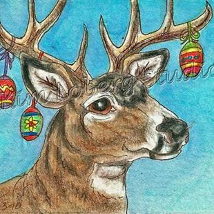 Art: Mulie Buck & Eggs by Artist Kim Loberg