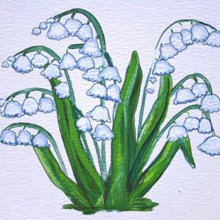 Art: Lily-of-the-Valley in Full Glory by Artist Leea Baltes
