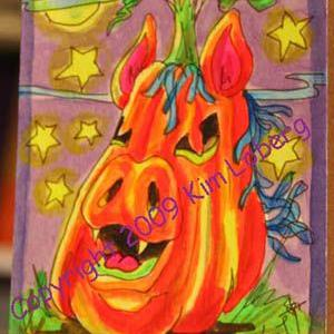 Art: Punkin' Head Neon Boo Pony by Artist Kim Loberg