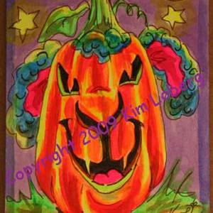 Art: Punkin' Head Neon Boo Sheep by Artist Kim Loberg