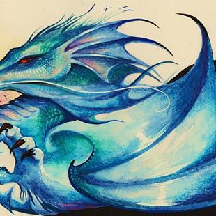 Art: Blue Dragon by Artist Nico Niemi