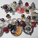 Art: MOON GODDESS Altered Art Charm Bracelet by Artist Lisa  Wiktorek