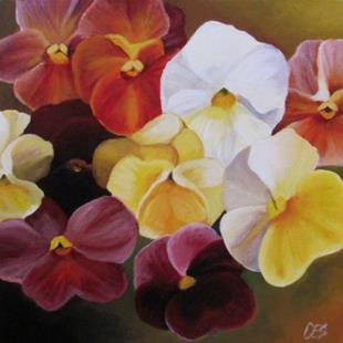 Art: Pansies by Artist Christine E. S. Code ~CES~