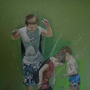 Art: Sprinkler by Artist Amy J Hipple