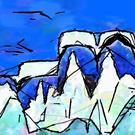 Art: Dessert Mountain Iceberg Whale Tail by Artist Deanne Flouton
