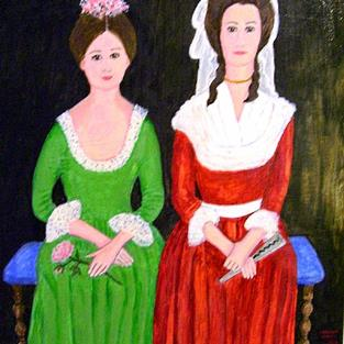 Art: Letitia and Harriet by Artist Fran Caldwell