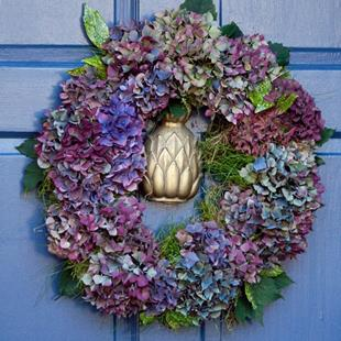 Art: Hydrangea Wreath by Artist Gabriele Maurus