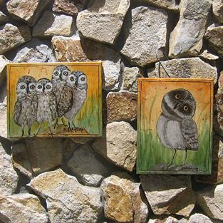 Art: Baby Owls by KeROBinson by Artist Ke Robinson