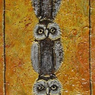 Art: Baby Owls by Artist Ke Robinson