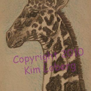 Art: Reticulated Giraffe SOLD by Artist Kim Loberg