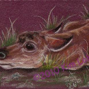 Art: Like This Mom? Pronghorn Baby SOLD by Artist Kim Loberg