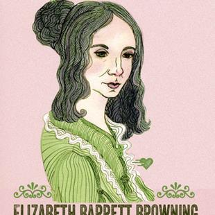 Art: Elizabeth Barrett Browning by Artist Naquaiya