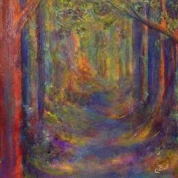 Art: Forest Tunnel by Artist Claire Bull