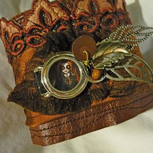 Art: FIRE GIRL CUFF (SOLD) by Artist Vicky Helms