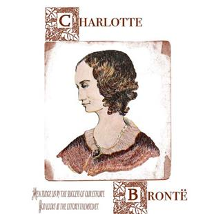 Art: Charlotte Bronte,Victorian Woman Author by Artist Naquaiya