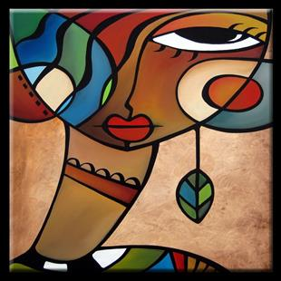 Art: Cubist 112 3030 Original Cubist Art Interlude by Artist Thomas C. Fedro