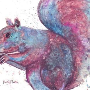Art: Gray Squirrel by Artist Ulrike 'Ricky' Martin