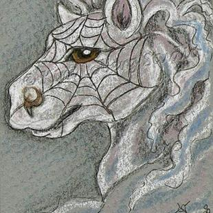 Art: Spider Smoke Pony by Artist Kim Loberg