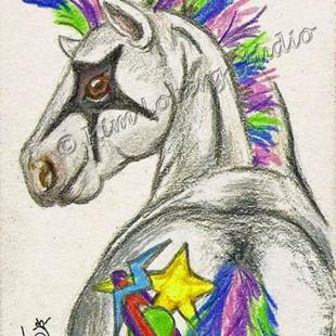 Art: Punk Rockin Star Pony - SOLD by Artist Kim Loberg