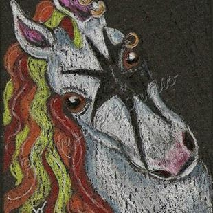 Art: Shadow Chaser Pony - SOLD by Artist Kim Loberg
