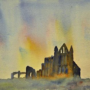Art: Whitby Abbey by Artist John Wright