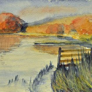 Art: Esthwaite water by Artist John Wright
