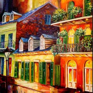 Art: Late Night-French Quarter - SOLD by Artist Diane Millsap