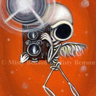 Art: Camera Skelly by Artist Misty Benson