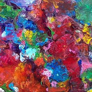 Art: Encaustic Abstract - sold by Artist Ulrike 'Ricky' Martin
