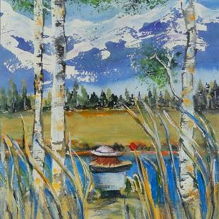 Art: Tubbing in the Chilcotins (sold) by Artist Kathy Crawshay