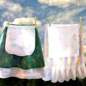 Art: Life of a Homemaker...a Story of Aprons by Artist Alma Lee