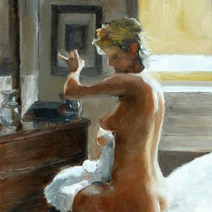 Art: After her Bath by Artist Ann Radley