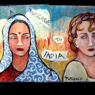 Art: 'A Passage to India':  An Art Journal Entry by Artist Patience