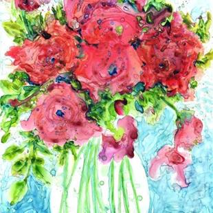 Art: Pastel Roses Bouquet by Artist Ulrike 'Ricky' Martin