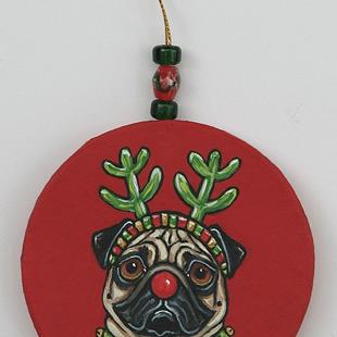 Art: Red Nose Pug 1 by Artist Melinda Dalke