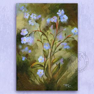 Art: Forget-Me-Nots - Sold by Artist Patricia  Lee Christensen
