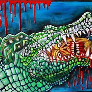 Art: Crocodile Lollipop by Artist Laura Barbosa