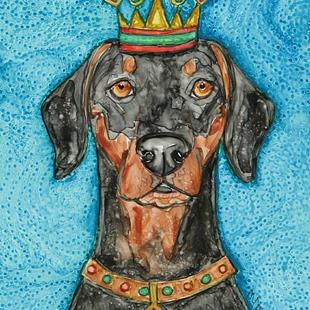 Art: King DoberMaster of Dobershire by Artist Melinda Dalke