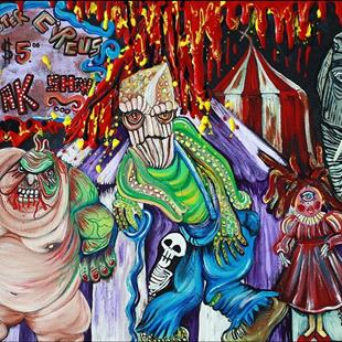Art: Freak Show - The Sinister Circus by Artist Laura Barbosa