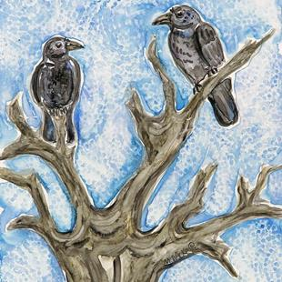 Art: Tree for Two by Artist Melinda Dalke