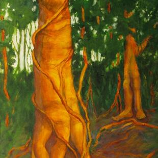 Art: trees dancing copy 3 cropped best.jpg by Artist Virginia Ann Zuelsdorf