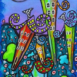 Art: Rainbow Cottages II by Artist Juli Cady Ryan