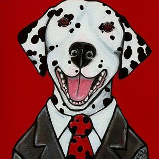 Art: Spots and Suit by Artist Melinda Dalke