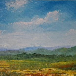 Art: Foothills And Clouds by Artist Kimberly Vanlandingham