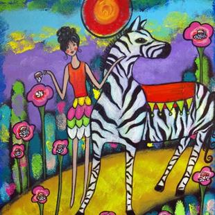 Art: A Zebra Tea Party by Artist Juli Cady Ryan