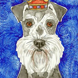 Art: King Schnauzer by Artist Melinda Dalke