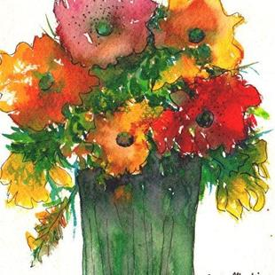 Art: Flower Bouquet - sold by Artist Ulrike 'Ricky' Martin