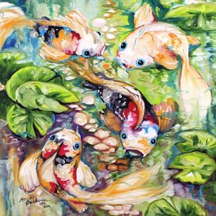 Art: KOI POND FOUR by Artist Marcia Baldwin