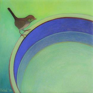 Art: Little Bird / Brown Junco by Artist Elizabeth Fiedel