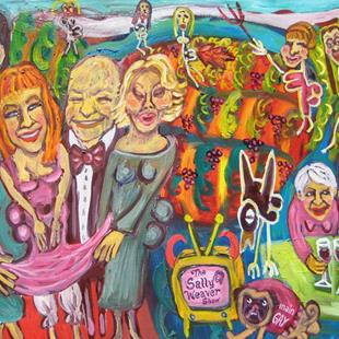 Art: Kathy Griffin D List Wine Country by Artist Elisa Vegliante